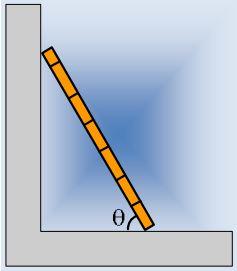 Στηρίζουμε μια σκάλα σε τοίχο